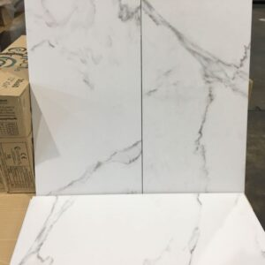 Porcelain – Rectified – 12 x 24 x 3/8″- Statuario – Bianco – Polished