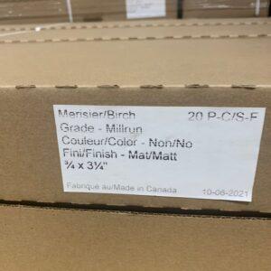 Hardwood – Birch 3 1/4, 3/4 Natural Millrun Mat