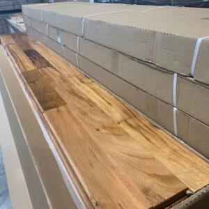 Hardwood – Brazilian Tigerwood , Natural, 3 1/4, 3/4, Semi Gloss Finish